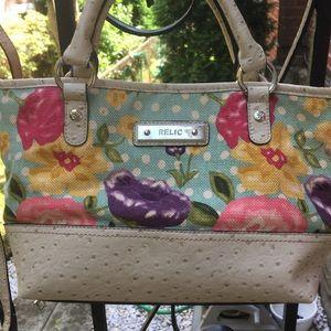 ⬇️🌷RELIC vintage floral bag with detachable strap